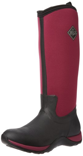 MuckBoots Women's Arctic Adventure Boot,Black/Maroon,7 M US