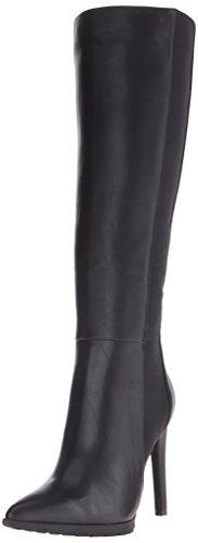 Calvin Klein Women's Barley Western Boot, Black, 9.5 M US