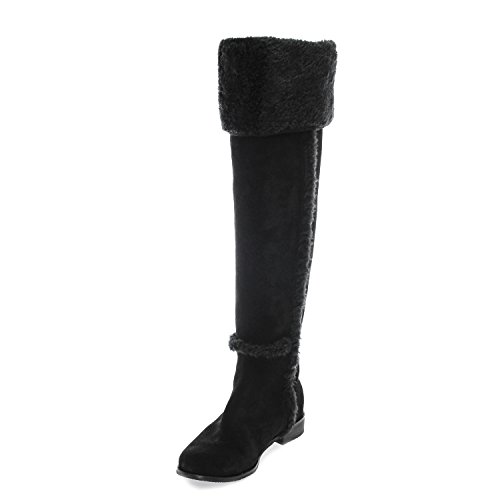 BCBG Max Azria Dorota Womens Over Knee Suede Knee High Boots Shoes 6.5