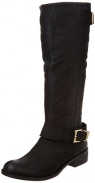 Steve Madden Women's Suspekt Boot,Black Leather,8.5 M US