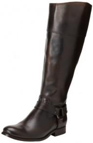 FRYE Women's Melissa Harness InSide-Zip Boot, Dark Brown Vintage Brush Off, 7.5 M US