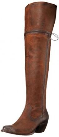 FRYE Women's Sacha Over The KneeOILNU Western Boot,  Dark Brown, 7.5 M US