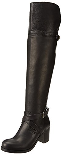 FRYE Women's Kelly Over The Knee Motorcycle Boot, Black, 8 M US