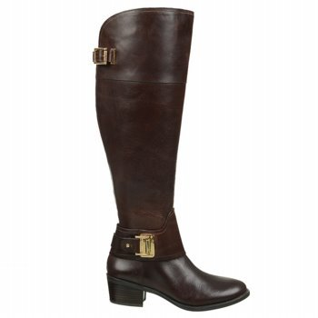 Vince Camuto Women's Basira Wide Calf,Burly Brown Pull Up,US 6.5 M
