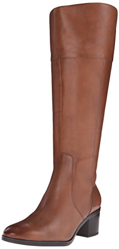 Naturalizer Women's Harbor Wide Calf Riding Boot, Banana Bread, 7 W US