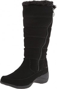 Khombu Women's Abby K Cold Weather Boot, Black Supple, 10 M US