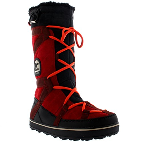 Sorel Women's Glacy Explorer Cold Weather Boot, Red Dahlia, 9 M US