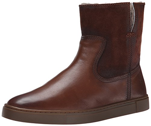FRYE Women's Gemma Short Shearlingsvlos Winter Boot,  Cognac, 8.5 M US