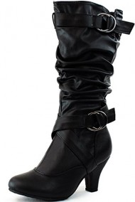 Top Moda Women's Auto-2 Round Toe Dress Boot