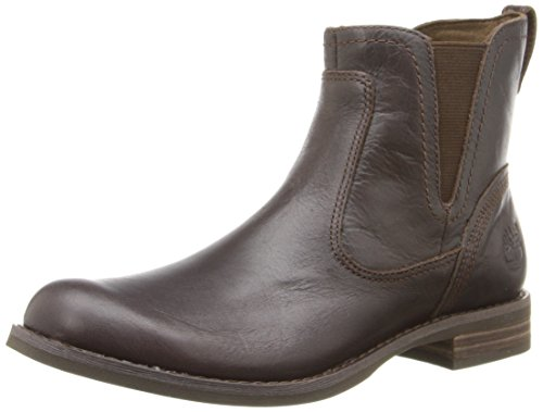 Timberland Women's EK Savin Hill Chelsea Oxford,Dark Brown,7 M US