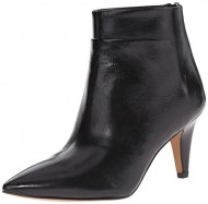 Nine West Women's Jinxie Leather Boot, Black, 5.5 M US