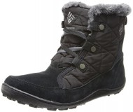 Columbia Women's Minx Shorty Omni-Heat Winter Boot,Black/Shale,8.5 M US