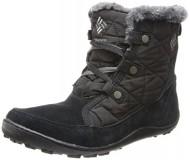 Columbia Women's Minx Shorty Omni-Heat Winter Boot,Black/Shale,8.5 M US