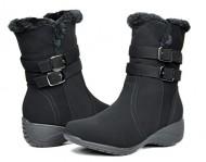 DREAM PAIRS THERMO Women's Winter Fur Interior Zipper Closure Outdoor Snow Boots Black Size 11