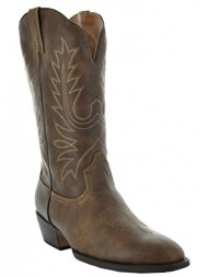 Country Love Boot's Round Toe WomenÕs Cowboy Boots W1001-1002 (8, Brown)
