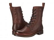 Frye Women's Jenna Combat Dark Brown Stone Antiqued Boot 8 B (M)