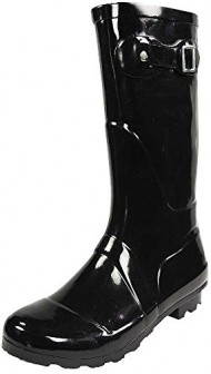 NORTY – Womens Hurricane Wellie Solid Gloss Mid-Calf Rainboot