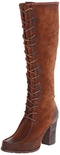 FRYE Women's Parker Moc Tall Riding Boot, Brown, 7 M US