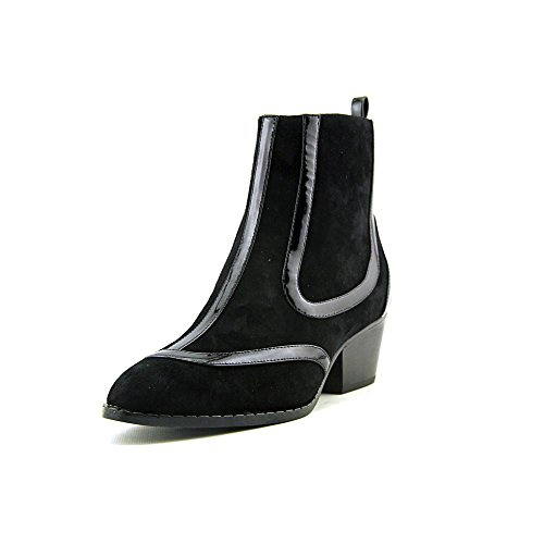 Vivienne Westwood Women's Harlow Boot,Black Suede/Patent Piping,8 M US