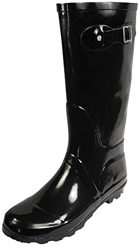 NORTY – Womens Hurricane Wellie Solid Gloss Hi-Calf Rainboot