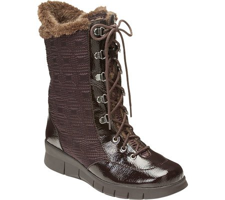 A2 by Aerosoles Women's Enamel Winter Boot,Dark Brown Combo,9 M US