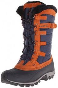 Kamik Women's Snowvalley Insulated Winter Boot, Navy, 8 M US