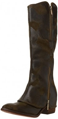 Donald J Pliner Women's Devi Riding Boot,Olive Vintage Suede,5.5 M US