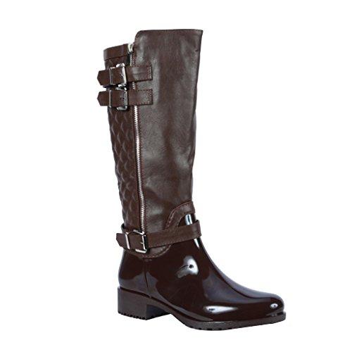 Coshare Women's Fashion Assorted Knee High Snow & Rain Boots
