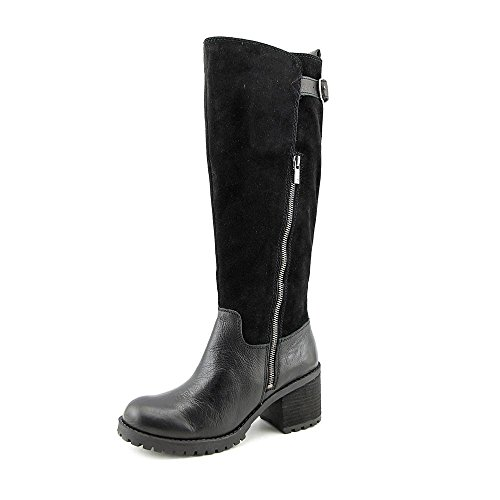 Lucky Women's Nogales Motorcycle Boot, Black, 10 M US