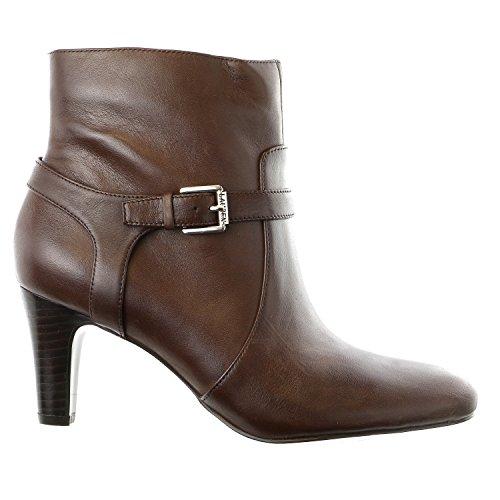 Lauren Ralph Lauren Women's Saida Boot, Dark Brown Burnished Calf, 8 B US