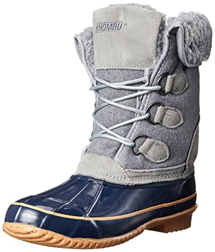 Khombu Women's Jilly KH Cold Weather Boot, Grey, 6 M US