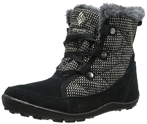 Columbia Women's Minx Shorty OH Tweed Cold Weather Boot, Black/Pebble, 7.5 M US