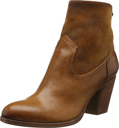 FRYE Women's Tessa Zip Short Boot,  Brown, 8 M US