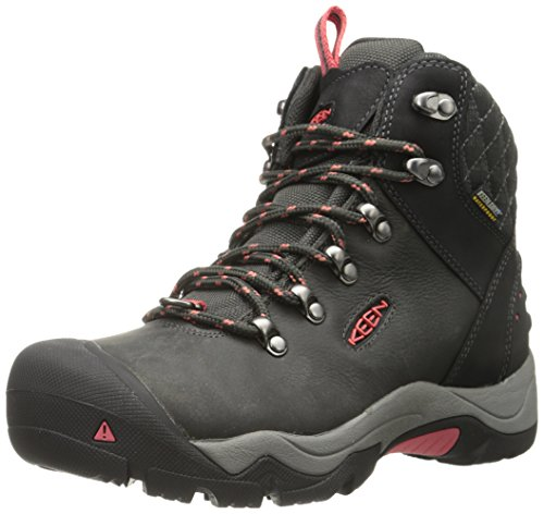 KEEN Women's Revel III Winter Boot, Black/Rose, 7 M US
