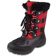 London Fog Womens Uxbridge Cold Weather Snow Boot Red 7 M US