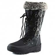 Women's DailyShoes Woman's Knee High Up Warm Fur Water Resistant Eskimo Snow Boots