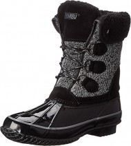 Khombu Women's Jilly KH Cold Weather Boot, Black Sweater, 10 M US