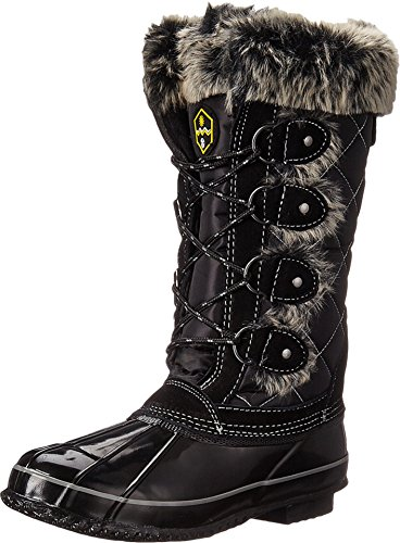 Khombu Women's Jandice KH Cold Weather Boot, Black, 9 M US