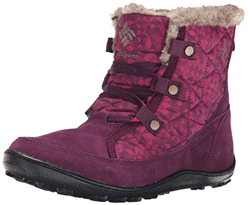 Columbia Women's Minx Shorty OH Print2 Cold Weather Boot, Purple Dahlia/Wet Sand, 8.5 M US