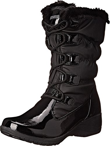 Khombu Women's Anne KH Cold Weather Boot, Black Patent Combo, 7 M US